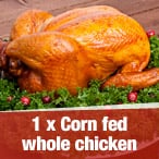 1x Corn Fed Whole Chicken