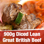 900g Diced Lean British Beef