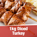 1kg Diced Turkey