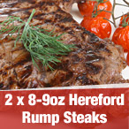 2x 8~9oz Hereford Rump Steak