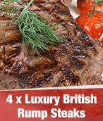 4 x Luxury British Rump Steaks
