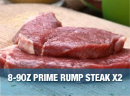 Prime Rump Steak - 8~9oz x2