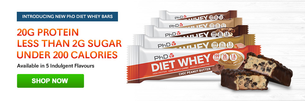 PhD Diet Whey Bars