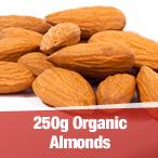 250g Organic Almonds