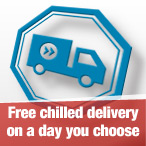 Free chilled delivery on a day of your choice